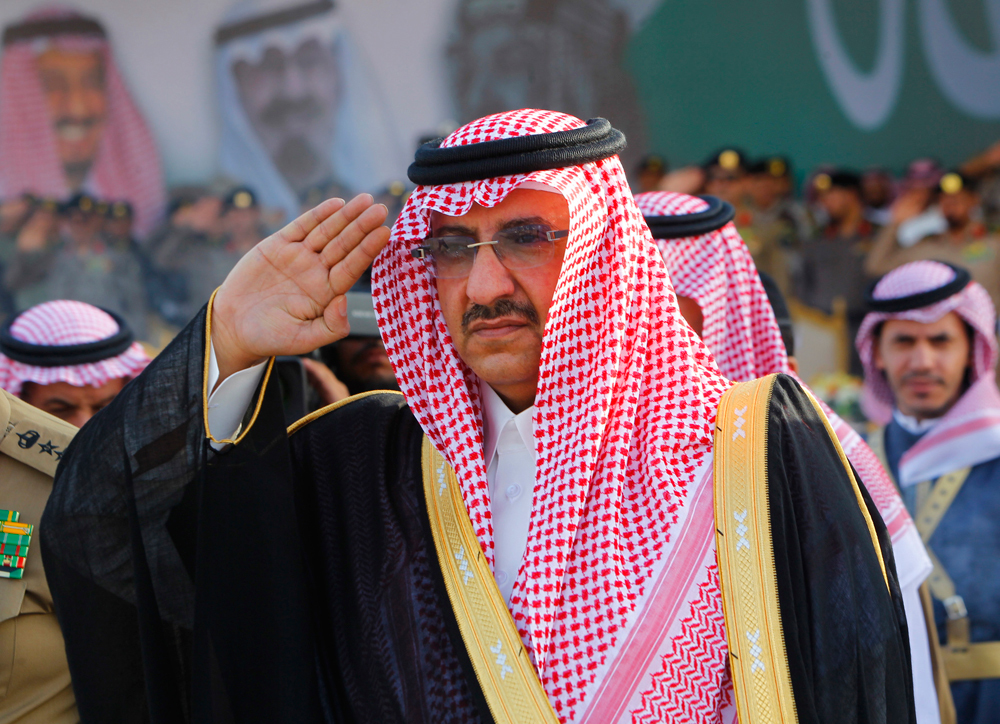 Il principe saudita Mohammed bin Nayef partecipa a una cerimonia militare vicino Riyadh, il 25 settembre 2012. - Fahad Shadeed, Reuters/Contrasto