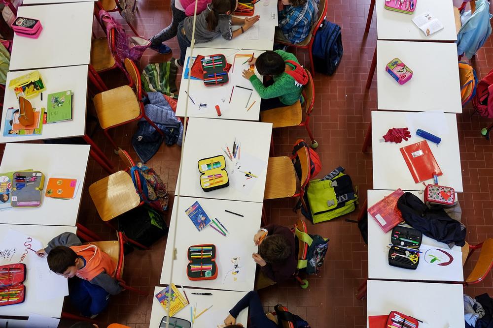 Una classe della scuola primaria Longhena di Bologna, anno scolastico 2015-2016. - Fabio Campo