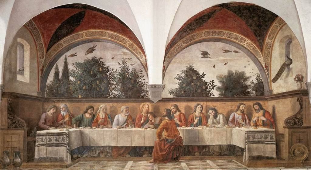 L'Ultima cena del Ghirlandaio, 1480. - Wikipedia
